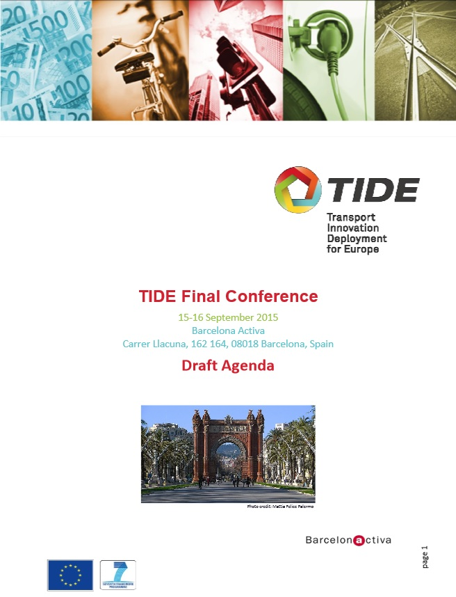 TIDE (Transport Innovation Deployment for Europe) Final Conference