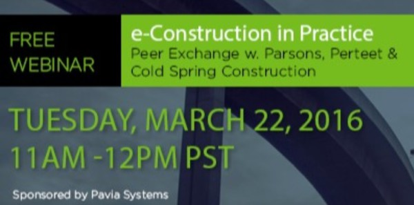 WEBINAR / e-Construction in Practice: Digital Exchange with Parsons, Perteet & Cold Stream Construction