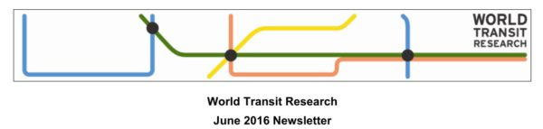 World Transit Research December 2016 Newsletter