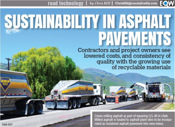 Contractors seeing lower cost, better consistency from recycled road materials