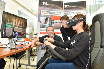 TRL develops VR rig to help cut lorry blind spots