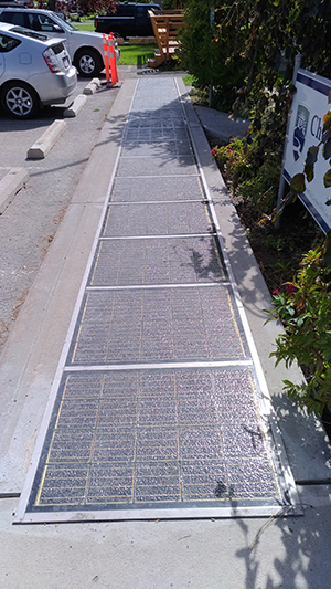 Solar sidewalk at Thompson Rivers University first in Canada