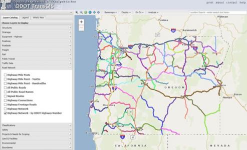 Oregon DOT builds information system on asset management software
