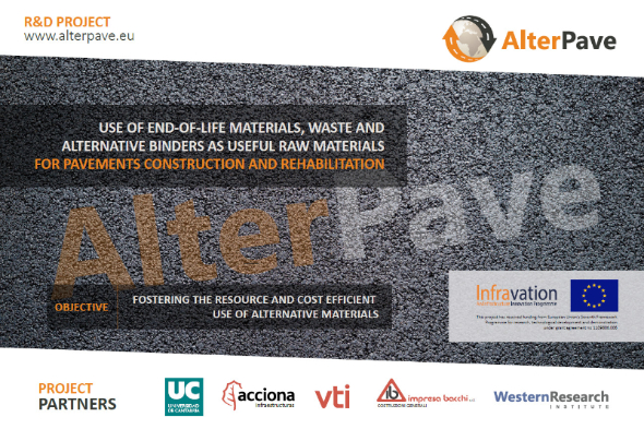 Promotion of sustainable materials and circular economy in the road construction: the ALTERPAVE EU Project