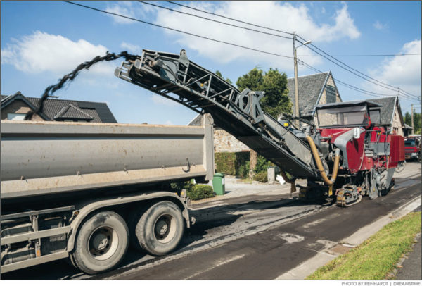 Asphalt pavement is one of the most recycled commodities in U.S.