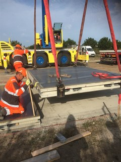 SolaRoad units installed in cycle path in Estampes