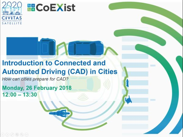 CIVITAS SATELLITE Webinar: Connected and Automated Driving in Cities: How can cities prepare for it?