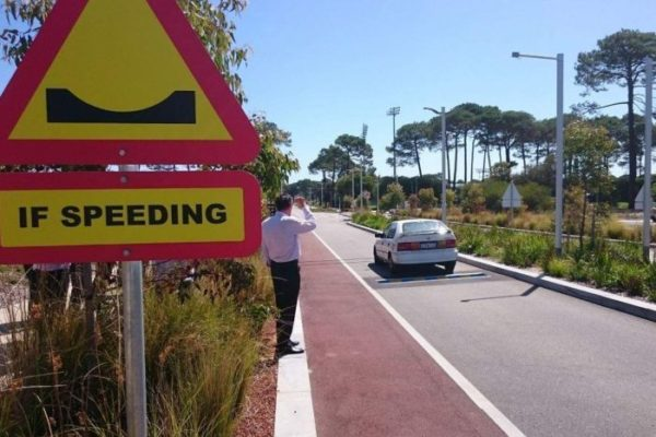 'Smart' speed bumps installed at Curtin University to crack down on speeding drivers
