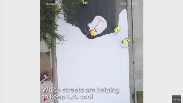 Los Angeles is spending $40,000 per mile to paint streets white — and it could have a surprising ripple effect on the city