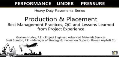"Seminario web 16 de agosto ""Heavy Duty Pavements: Production & Placement Best Management Practices, QC, and Lessons Learned From Project Experience"""