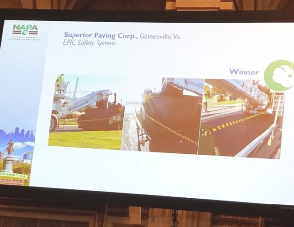 NAPA Announces Winners of National Award for Safety Innovation in the Asphalt Pavement Industry