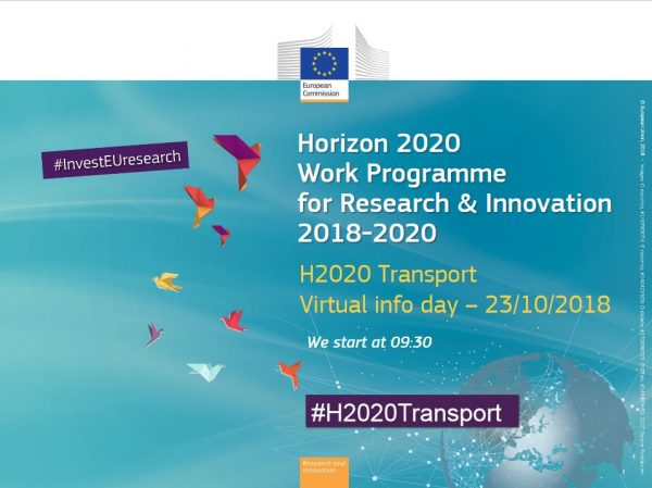 Ya está disponible la presentación del Horizon 2020 Transport virtual info day