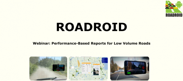 """Webinar (IRF) """"Performance-Based Reports for Low Volume Roads"""""""